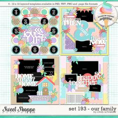 Cindy's Layered Templates - Set 193: Our Family by Cindy Schneider