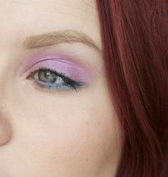 Pink and Turquoise eye make-up