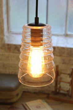 Pressed Glass Ceiling Light. Replica 'Tom Dixon pressed glass pendant' - Fat Shack Vintage - Fat Shack Vintage