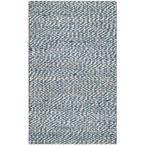 Natural Fiber Blue/Ivory 2 ft. 6 in. x 4 ft. Area Rug