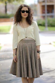 Megan Nielsen briar sweater with circle skirt.
