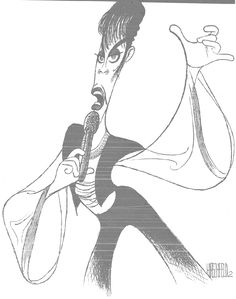 Al Hirschfeld ~ (The Artist Formerly Known as) Prince, Gold Experience Era