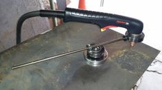 Clever magnetic circle cutting jig for plasma torch. http://weldingweb.com/attachment.php?attachmentid=775601&d=1405808295