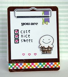 Card by PS DT Michele Boyer using PS Clipboards stamps/dies, Sugar Rush stamps/dies
