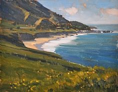 Carmel Coastline by Carolyn Hesse-Low Oil ~ 11 x 14
