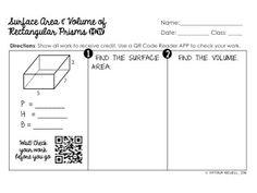 volume of rectangular prism worksheet volume worksheets projects to try pinterest. Black Bedroom Furniture Sets. Home Design Ideas