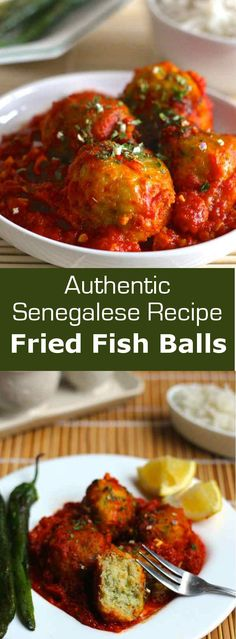 Fried fish balls (thiou boulettes de poisson) is a traditional spicy Senegalese dish that is typically prepared with emperor bream. #fish #Senegal #196flavors