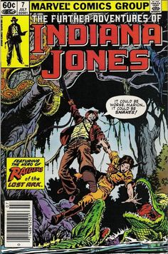 Marvel's The Further Adventures of Indiana Jones #7-this is one of the comics that started my obsession