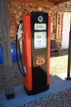 """Route 66 - Vintage Gas Pump, Spencer, Missouri. """"The Fine Art Photography of Frank Romeo."""""""