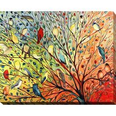 Shop for Jennifer Lommers '27 Birds' Giclee Print Canvas Wall Art. Get free delivery at Overstock.com - Your Online Art Gallery Store! Get 5% in rewards with Club O! - 17246381