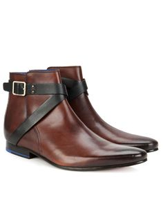 MENS STRAPPED CHELSEA BOOT - Brown | Footwear | Ted Baker UK