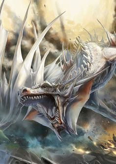 White dragon (Ruth? You've grown...lol.. but where is Jaxom?)