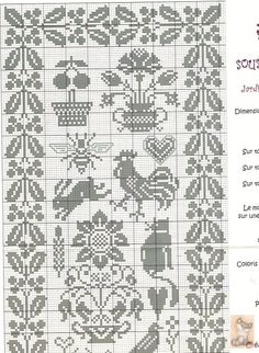 ru / Фото - Sampler 3 - Labadee Good outer border for doll house rug! love the inner designs too, perhaps for other things ? Cross Stitch Sampler Patterns, Geek Cross Stitch, Blackwork Patterns, Cross Stitch Freebies, Just Cross Stitch, Cross Stitch Borders, Cross Stitch Alphabet, Cross Stitch Samplers, Cross Stitch Flowers