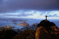 The Corcovado overlooking the city of Rio de Janero, Brazil