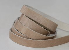 15mm Light Tan  Genuine Leather Strap, 1 Yard by JLLeatherSupplies on Etsy