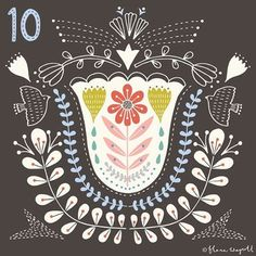 Day 10 xx ♡ #illustration #christmasadvent #florawaycott