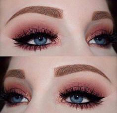 makeup looks cut crease Edgy Makeup, Makeup Eye Looks, Grunge Makeup, Simple Eye Makeup, Cute Makeup, Prom Makeup, Girls Makeup, Makeup Goals, Pretty Makeup