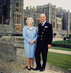 """My job first, second and last is never to let the Queen down"" ~ Prince Philip, Duke of Edinburgh. Queen Elizabeth II and Prince Philip at Windsor Castle. May 19, 1997."