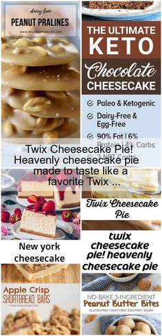 Heavenly cheesecake pie made to taste like a favorite Twix candy bar. Cheesecake Pie, Chocolate Cheesecake, Dairy Free Eggs, Egg Free, Paleo, Keto, Heavenly, Food, Dairy