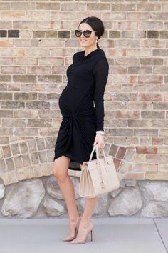 maternity-style-black-stretch-dress