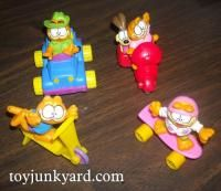 McDonald's Garfield series were some of my favorite Happy Meal toys 90s Childhood, Childhood Memories, Retro Toys, Vintage Toys, 1980s Kids, Mcdonalds Toys, Old School Toys, I Remember When, Good Ole