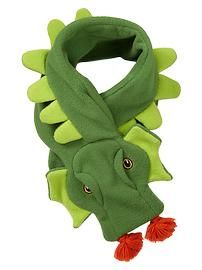Pro Fleece dragon scarf. Seems simple enough to attempt.