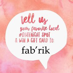 Are you in the process of planning your Friday #datenight and need a new outfit? @fabrikfortmyers can help with that! We're giving away TWO $50 gift cards to two lucky ladies. Here's what you need to do: comment and tag if possible your favorite local date night restaurant and you'll be entered to win! Please keep in mind you will need to pick your prize up in person at the store. You have until Friday at noon - good luck! #giveaway #contest #shopping #shopaholic #giftcard #free #local…