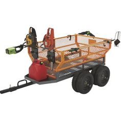 This handy Bannon Utility Trailer features a large x steel bed to haul loads up to lbs. Flared side panels effectively contain . Utility Trailer Accessories, Atv Utility Trailer, Utv Accessories, Tractor Accessories, Quad Trailer, Trailer Build, Trailer Hitch, Accessoires Quad, Utv Trailers