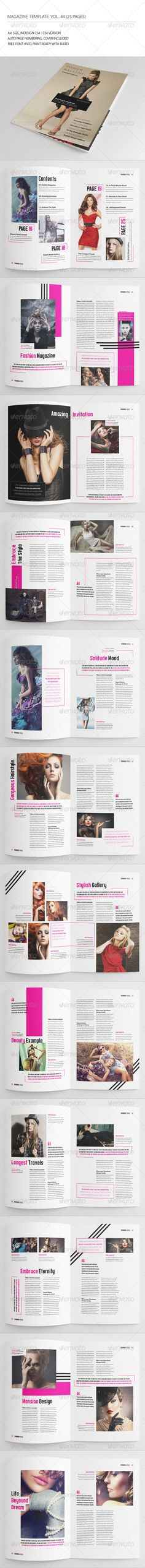 25 Pages Fashion Magazine Vol44 — InDesign INDD #fashionable #stylish • Available here → https://graphicriver.net/item/25-pages-fashion-magazine-vol44/7457822?ref=pxcr