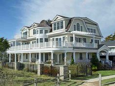 This beautiful beach house in Avalon, NJ has wrap-around decks surrounding the first and second floors, and beautiful views of the ocean!