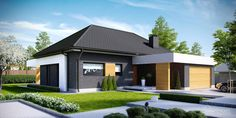 Find home projects from professionals for ideas & inspiration. Projekt domu HomeKONCEPT 27 by HomeKONCEPT My Home Design, Home Design Plans, Modern House Design, Beautiful House Plans, Beautiful Homes, Style At Home, Fachada Colonial, Modern Properties, Contemporary House Plans