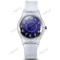 Fashion Light Transparent Band Star Pattern Quartz Watch Wrist Watch for Boy Girl Kids WWT-358384