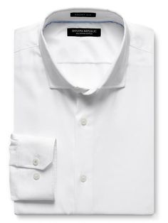 Grant-Fit Textured 120s Supima Cotton Shirt