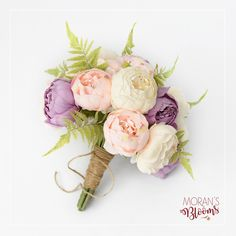 New Bridal Bouquet Pink Peonies Lavender Ideas Silk Bridal Bouquet, Spring Wedding Bouquets, Spring Bouquet, Silk Peonies, Peonies Bouquet, Floral Bouquets, Prom Flowers, Bridal Flowers, Bridal Portraits Outdoor