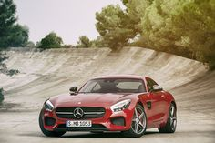 Mercedes-Benz is gunning for Porsche with the new AMG GT, in an interesting manifestation of the role reversal among German automakers. The 2016 AMG GT is only the second sports car to be developed entirely in-house by Mercedes-AMG. Porsche 911, Porsche Panamera, Porsche 918 Spyder, Mercedes Benz Amg, Ferdinand Porsche, New Sports Cars, Sport Cars, Bugatti, Maserati