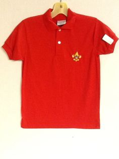 Boy Scouts Red Polo Shirt Size M or L Short Sleeves Activity Collar New! #GreatAmericanorScreenMate #Shirt