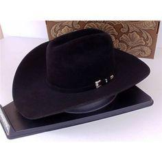 Resistol Cowboy Hat 20X Beaver Fur Felt Black Gold. J.R. s Western World 4b141e7554a7