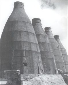 bottle kilns of Bedford pottery works.  this photo taken in 1958