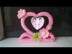 3d origami showpiece || how to make photo frame using paper - YouTube