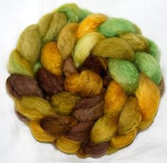 BFL  Extra soft 3 times blended hand dyed 104g roving handpainted by YummyYarnsUK, £10.85