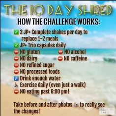10 day shred with the help of Juice Plus nutrition                                                                                                                                                                                 More