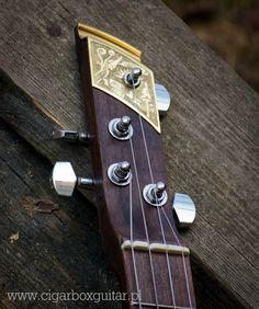 Cigar box guitar Miku Headstock