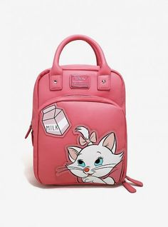 Loungefly Disney The Aristocats Marie Retro Backpack - BoxLunch Exclusive, , hi-res Disney Handbags, Disney Purse, Backpack Straps, Backpack Bags, Moda Disney, Cute Mini Backpacks, Retro Backpack, Disney Merchandise, Cute Bags