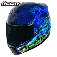 Motorcycle Icon Airmada Thriller Helmet Blue S UK Seller Retro Motorcycle Helmets, Motorcycle Icon, Motorcycle Riding Gear, Racing Helmets, Racing Motorcycles, Bike Helmets, Motorcycle Fashion, Yamaha R6, Biker Accessories