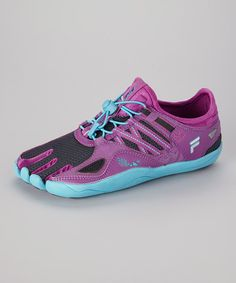 Take a look at this Purple & Bright Blue Skele-Toes Bay Runner Shoe - Women on zulily today!