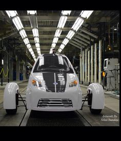 Elio photoshopped with a chrome grill. Elio Motors, Tribal Bear, Warrior Images, Third Wheel, Cars And Motorcycles, Custom Design, Train, Vehicles, Chrome