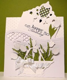 Tulips in a basket by jasonw1 - Cards and Paper Crafts at Splitcoaststampers
