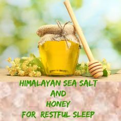 Natural Sleep Remedies Himalayan sea salt and honey just may be the answer to help you get a restful night sleep and feel recharged in the morning! Natural Sleep Remedies, Natural Cures, Natural Health, Insomnia Remedies, Himalayan Salt Benefits, Himalayan Sea Salt, Natural Medicine, Herbal Medicine, Herbal Remedies