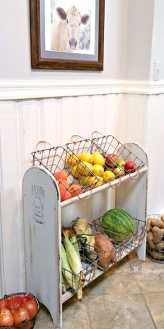 Wonderful Best Country Decor Ideas – Farmhouse Vegetable Stand – Rustic Farmhouse Decor Tutorials and Easy Vintage Shabby Chic Home Decor for Kitchen, Living Room and Bathroom – Creative Country C ..