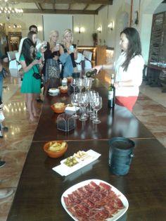 Degustación de vinos #Bodega #Vinos #SpanishCourses #CursosdeIdiomas #COE #HELIA #HeretatDeCesilia #Alicante